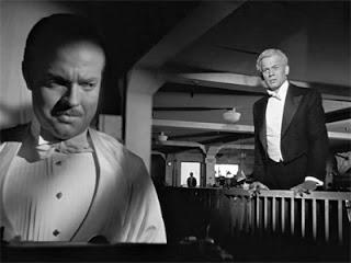 Orson Welles as Charles Foster Kane, Joseph Cotton as Jedediah Leland in Citizen Kane