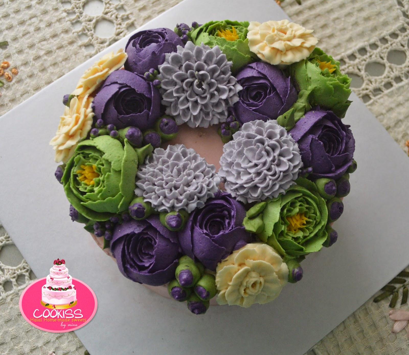 Miracookiss: Flower Wreath Cake with Italian Meringue ...