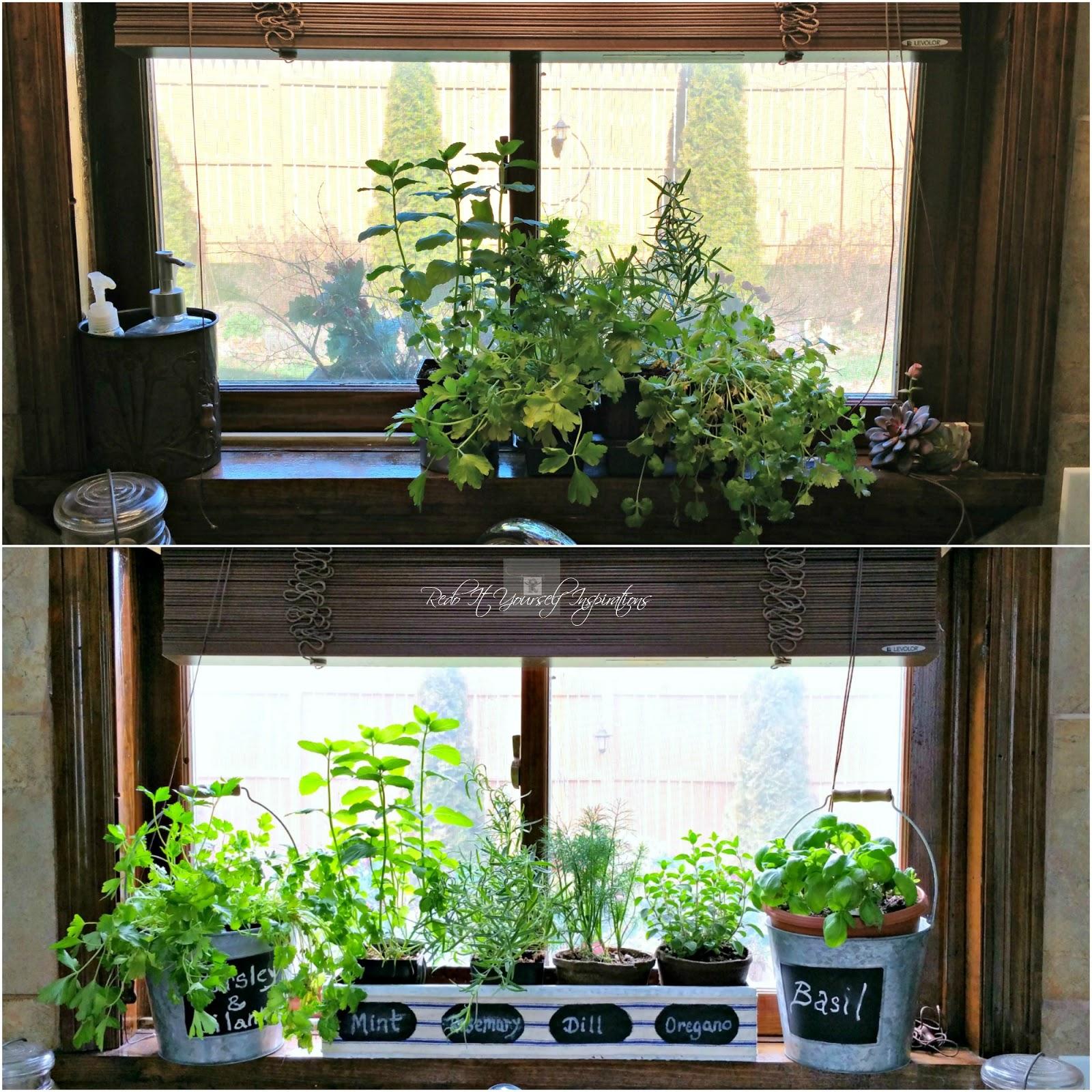Kitchen Window Herb Garden  Redo It Yourself Inspirations