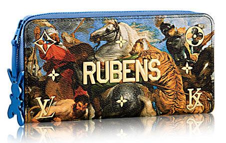 Louis Vuitton Jeff Koons cartera colección Masters Rubens