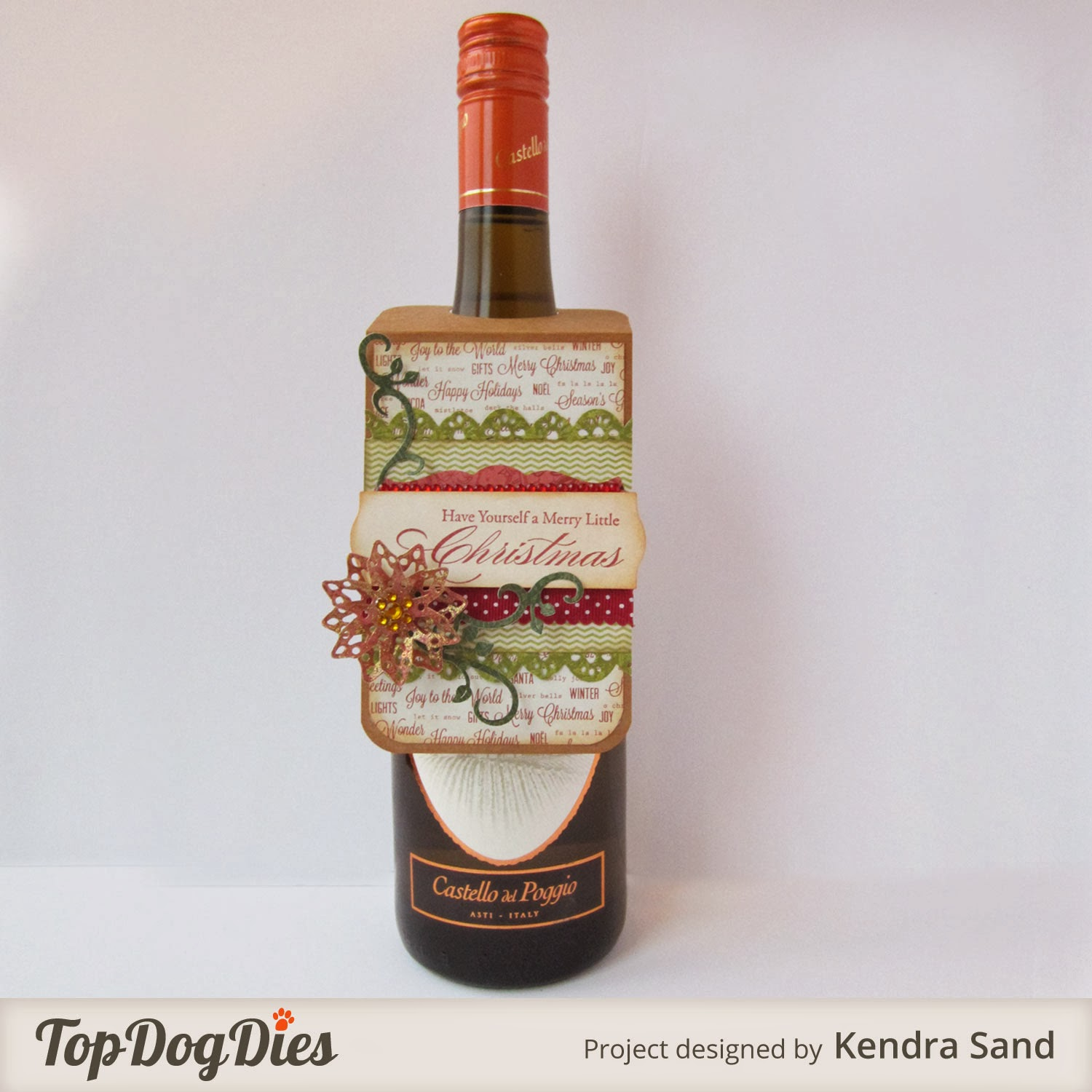 Luv 2 Scrap N' Make Cards: Wine Bottle Tag With TDD