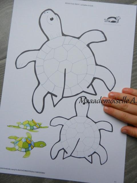 || Activité : Tortues en papier