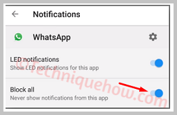 disable while logged in to the WhatsApp Web all