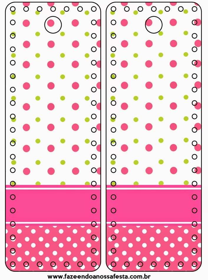 Sweet 16 Pink, Green and White Polka Dots Free Printable Tags.