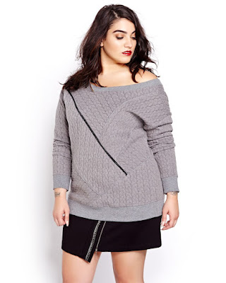 The Cable Knit Sweat Shirt Nadia Aboulhosn Addition Elle