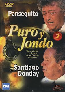 """SANTIAGO DONDAY EN """"PURO Y JONDO"""" PROGRAMA DE TVE QUE LUEGO SLADRÍA EN DVD"""
