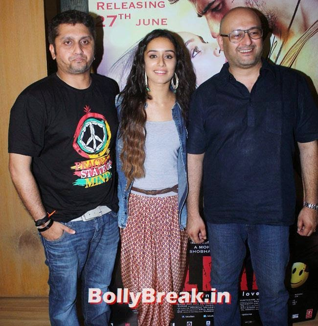 Raju Singh, Shradha Kapoor and Mohit Suri, Shraddha Kapoor Records Background Score of Ek Villain