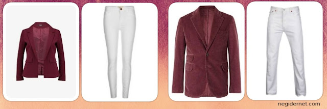 bordo-renk-ceket-altina-ne-giyilir-bayan-erkek-beyaz-pantolon