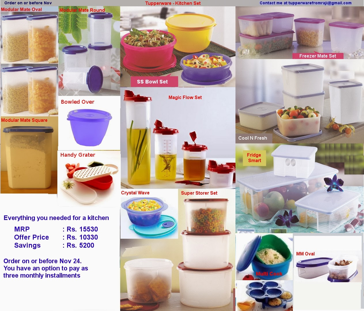 Tupperware From Raji Tupperware Kitchen Set
