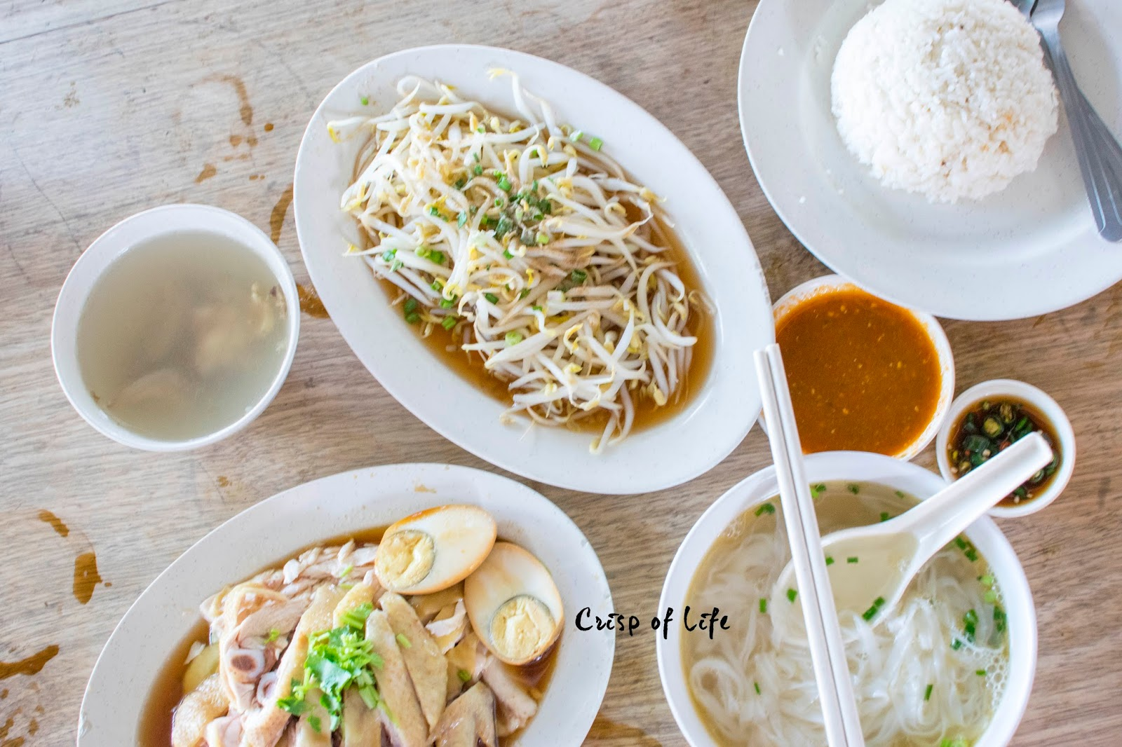 Boon Kee Ipoh's Bean Sprout Chicken Rice with Kopi Kao 文记怡保芽菜鸡 @ Relau, Penang
