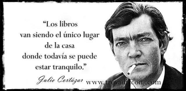 'Los libros van siendo el único lugar de la casa donde todavía se puede estar tranquilo.'
