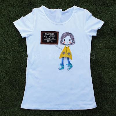 Camiseta profe personalizada