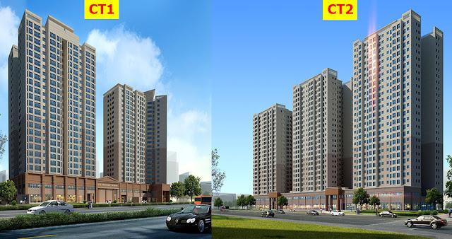 Khối chung cư CT1 - CT2 dự án The K Park