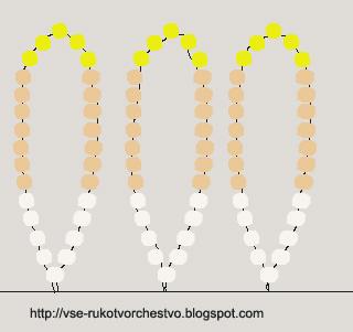 Схема плетения цветка 2 (2 ярус)
