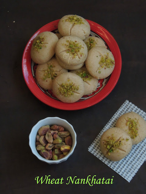 Nankhatai, Whole Wheat Pistachio Nankhatai, Indian Nankhatai Cookies
