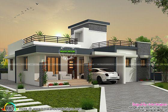 3 BHK contemporary, box type home
