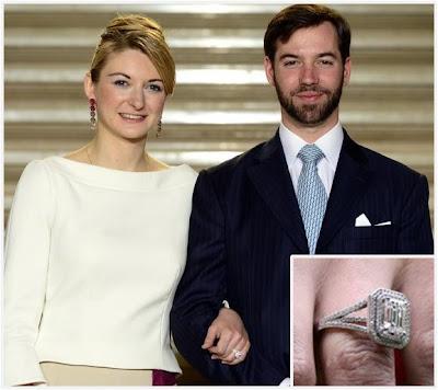 Znalezione obrazy dla zapytania princess stephanie of luxembourg engagement