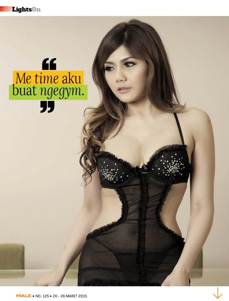Pose Hot Agista Faulina - Male Magazine Maret 2015