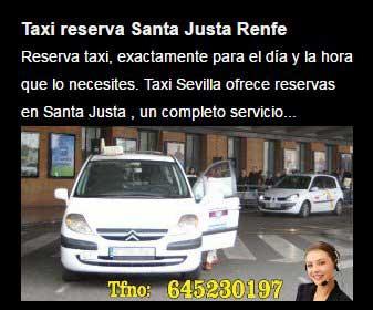 reservar taxi santa justa
