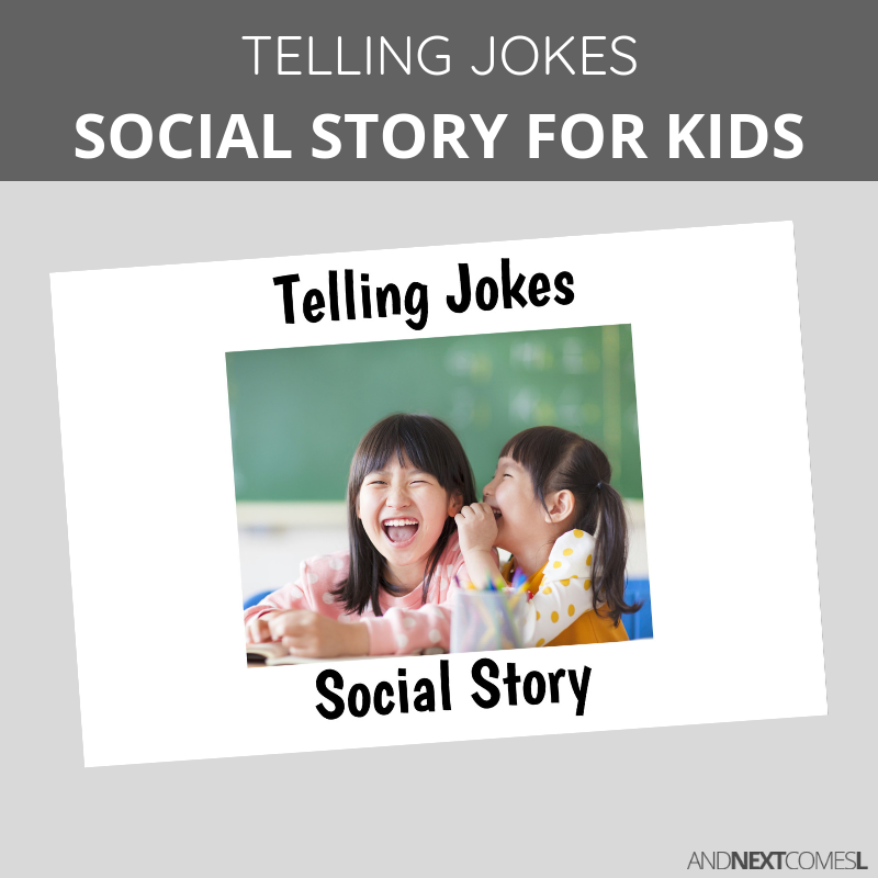 Printable social story for kids with autism about telling jokes