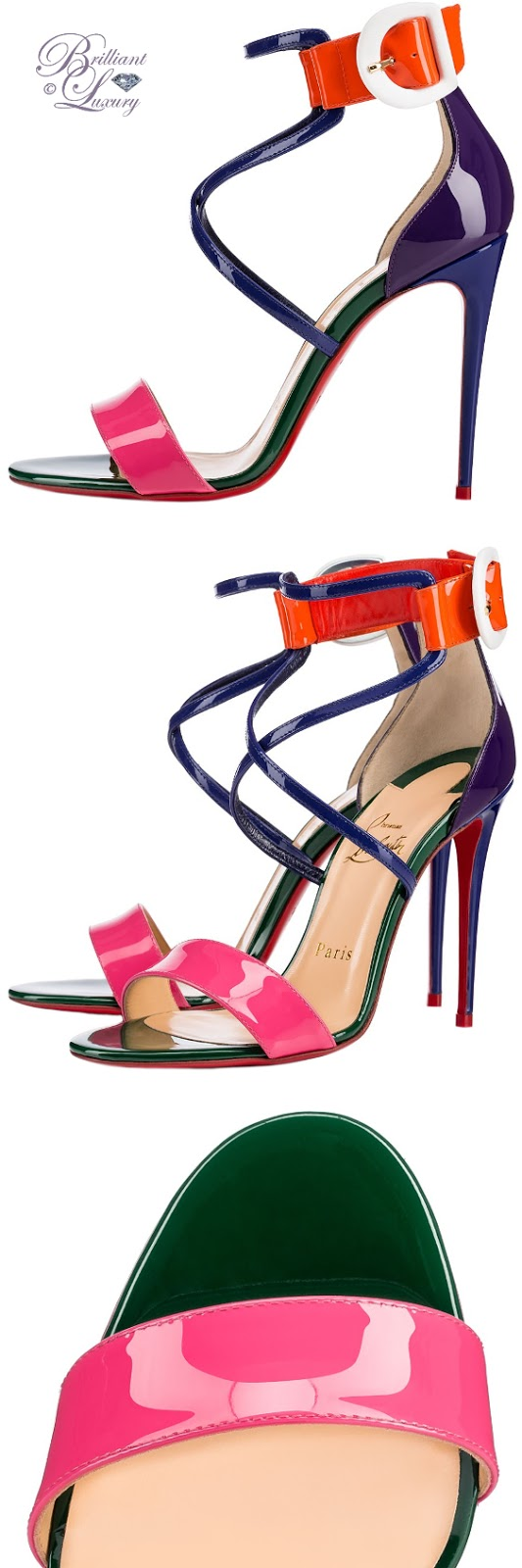 Brilliant Luxury ♦ Christian Louboutin Choca Sandal