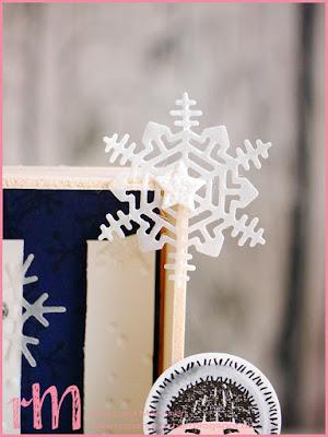 Stampin' Up! rosa Mädchen Kulmbach: Stamp Impressions Blog Hop: Let it snow: Dekorahmen mit Eskimo aus Ausgestochen Weihnachtlich, Eiskristallen aus Jahr voller Farben und Buchstaben mit dem Mini Alphabet Punch Board von We R Memory Keepers