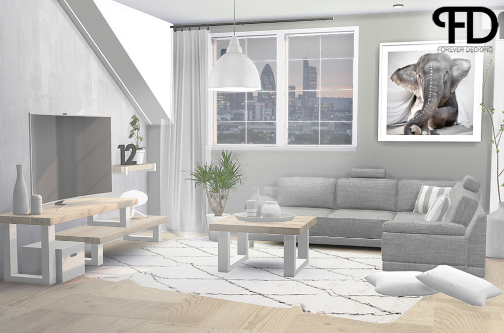 Sims 4 Cc S The Best Industrial U Living Room By