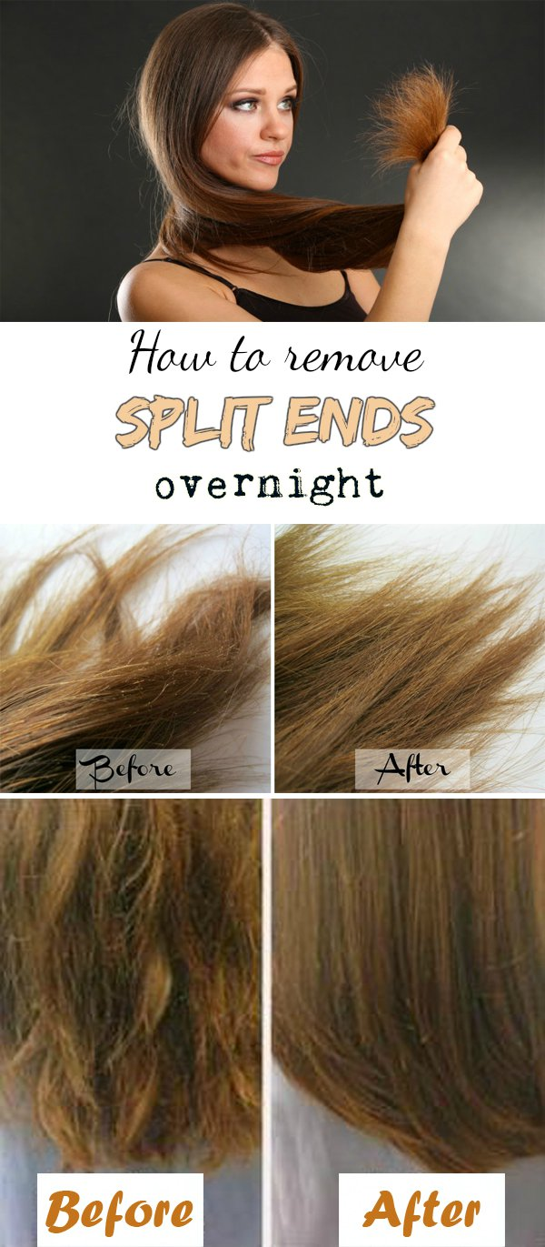 How to Remove and Prevent Split Ends Overnight