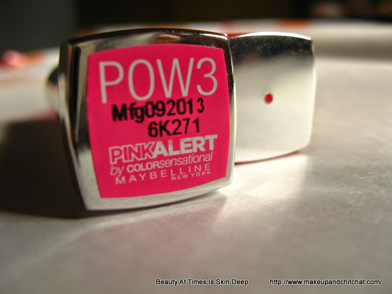 Case of Maybelline Pink Alert Lipstick in POW3