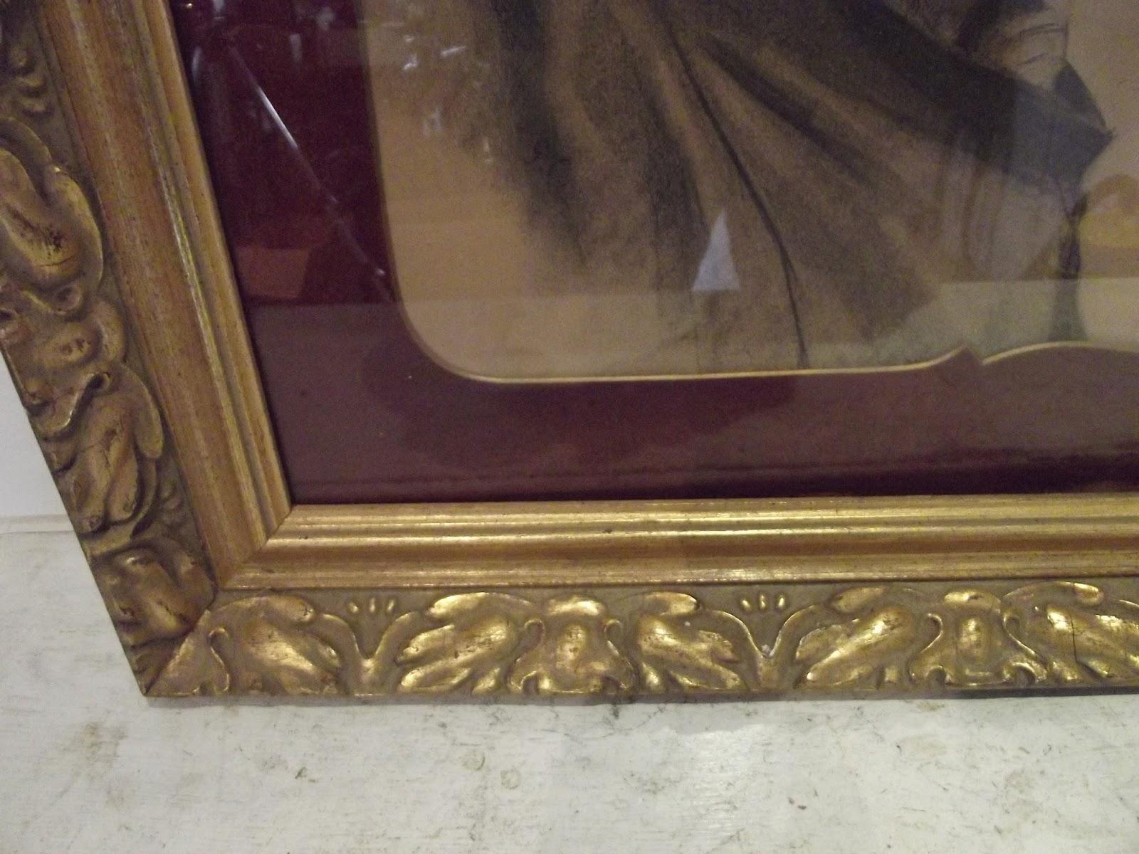ancien dessin encadr tableau sous verre portrait p cheur breton avec. Black Bedroom Furniture Sets. Home Design Ideas