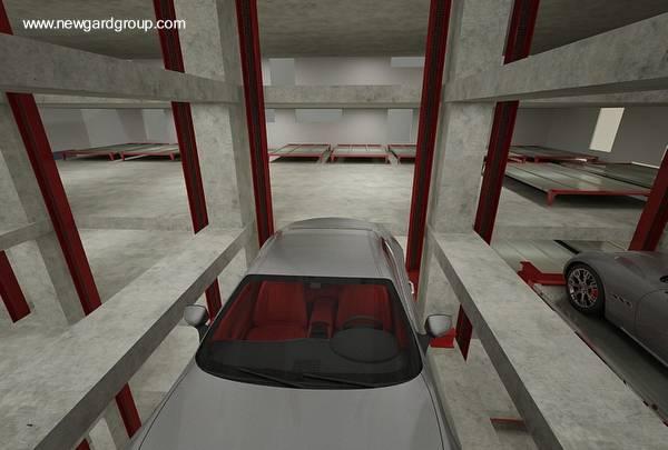 Transporte vertical de vehículos en torre de Miami