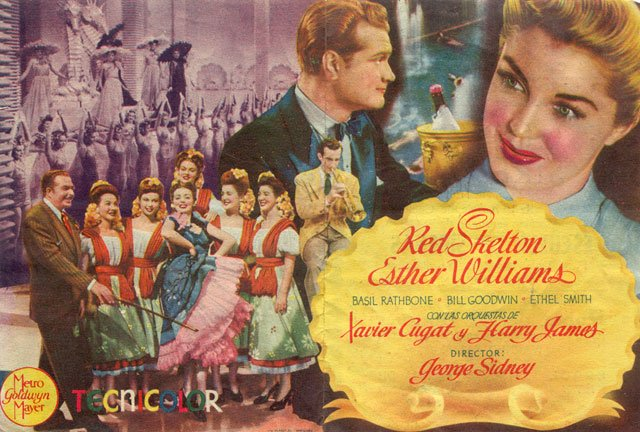 Programa de Cine - Escuela de Sirenas (Doble) - Esther Williams - Red Skelton
