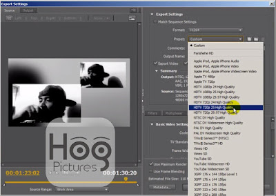 Cara Export Video di Adobe Premiere Pro - Best Export Settings - Hog Pictures