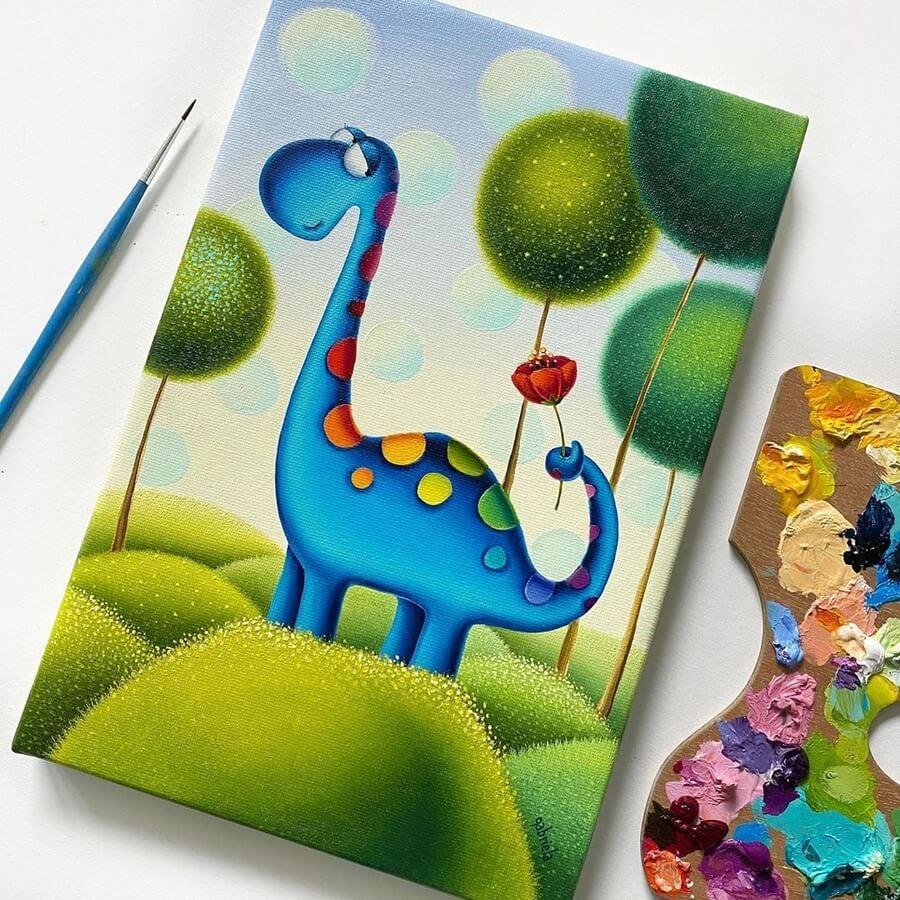 08-Rainbowsaurus-Dinosaur-Gabriela-Elgaafary-www-designstack-co