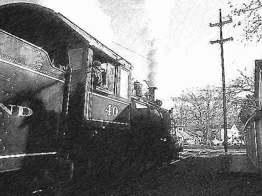 Steam Locomotive Number 40 Leaving the New Hope Station.