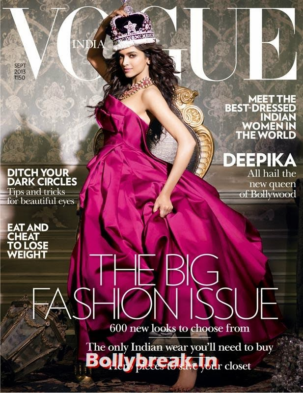 Deepika Padukone on Vogue cover, The Hottest cover girls of 2013