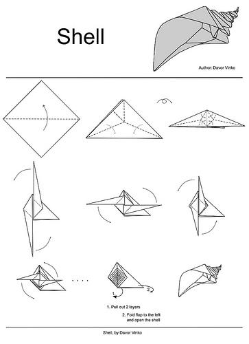 El arte del Origami: Concha Marina Diseñada por Davor Vinko