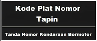 Kode Plat Nomor Kendaraan Tapin