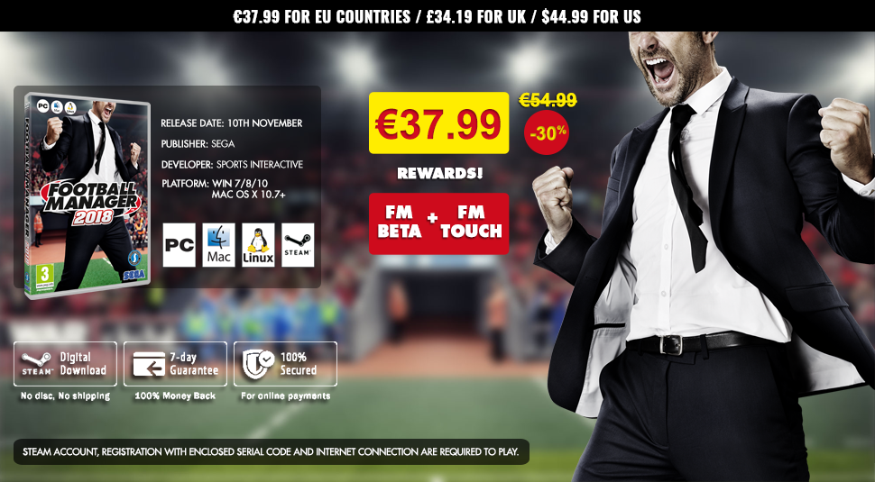 Buy Football Manager 2018 Steam Key