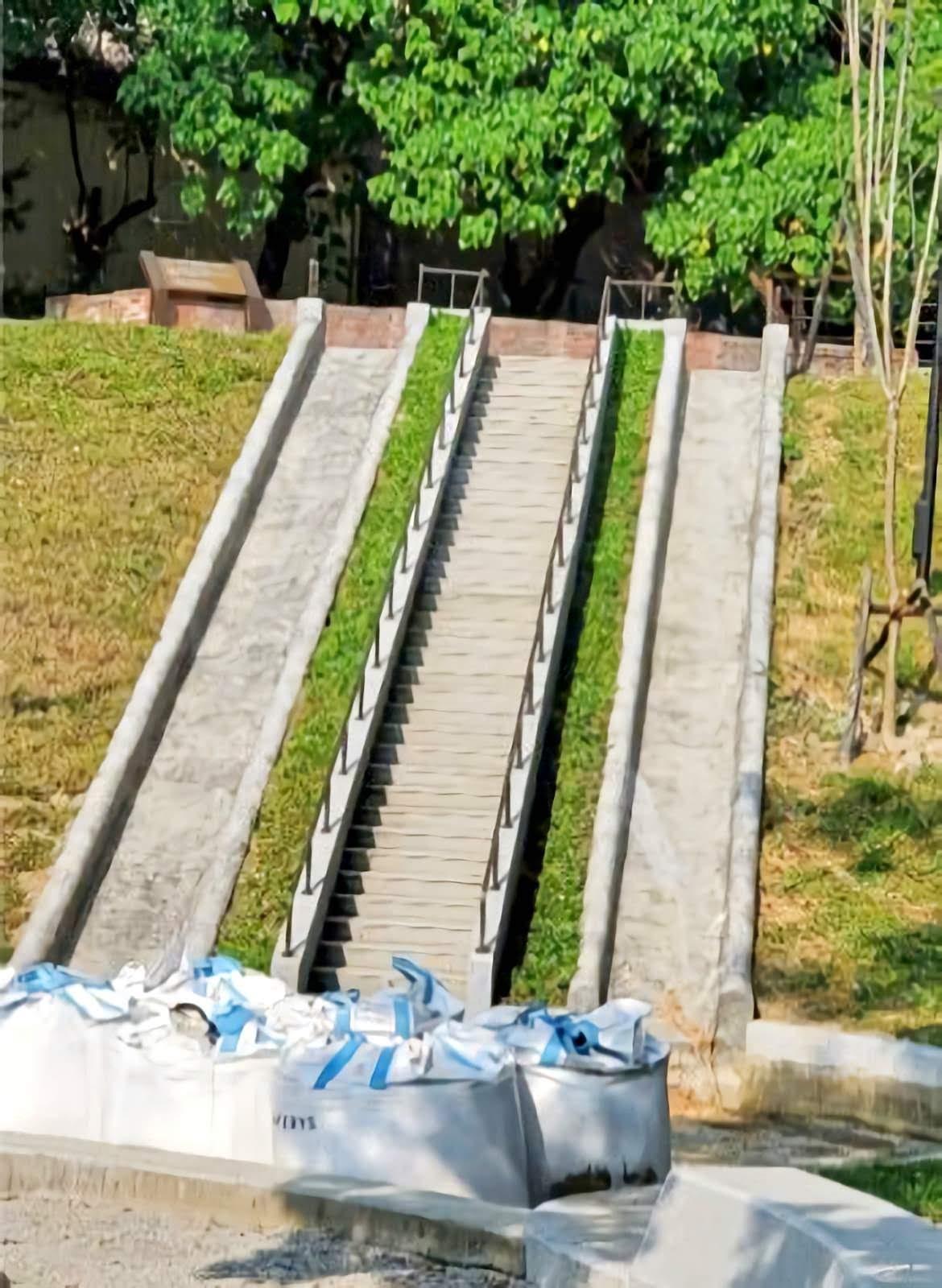 台南最長地景式溜滑梯的特色公園|永康公7公園12月中開幕