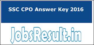 SSC CPO Answer Key 2016