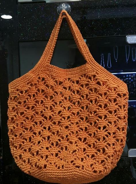 Bolsa de Crochê Coral