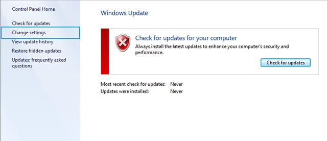 Cara menonaktifkan Windows Update pada Windows 7 5