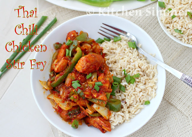 Kitchen Simmer: Thai Chili Chicken Stir Fry