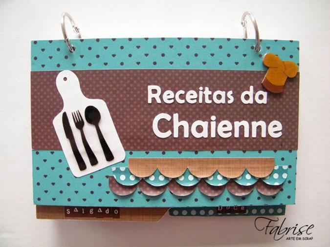 Caderno de Receitas Personalizado – Receitas da Chaienne