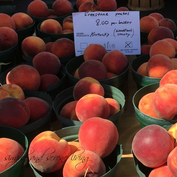 fresh picked peaches produce farmer Kentucky