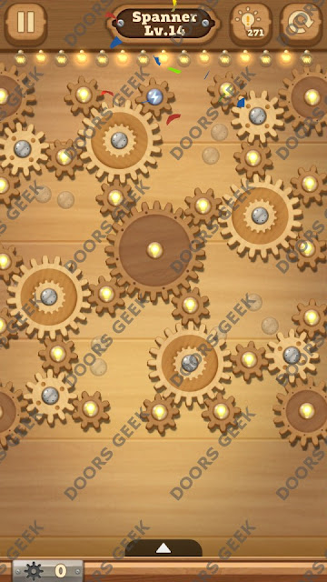 Fix it: Gear Puzzle [Spanner] Level 14 Solution, Cheats, Walkthrough for Android, iPhone, iPad and iPod