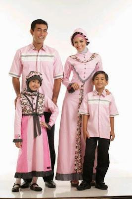 35 Desain Baju Muslim Keluarga Seragam Modern Terbaru