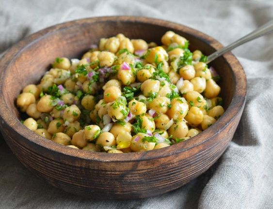 Chickpea & Red Onion Salad