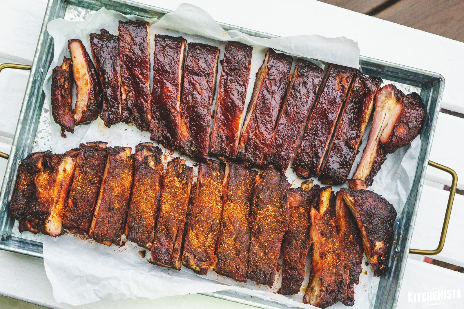 memphis style smoked spare ribs the kitchenista diaries. Black Bedroom Furniture Sets. Home Design Ideas